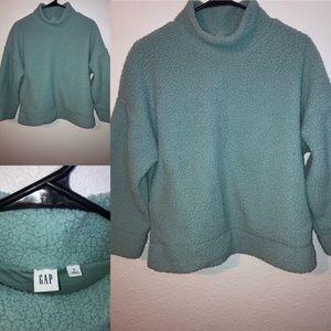 GAP Fleece Mock Neck Sweater